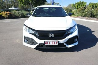 2019 Honda Civic 10th Gen MY19 50 Years Edition Platinum White 1 Speed Constant Variable Hatchback.