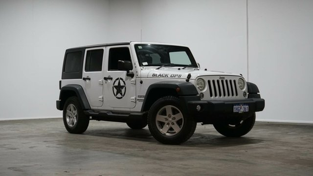 Used Jeep Wrangler JK MY2016 Unlimited Sport Welshpool, 2015 Jeep Wrangler JK MY2016 Unlimited Sport White 6 Speed Manual Softtop