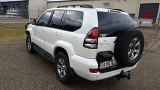 2008 Toyota Landcruiser Prado GRJ120R 07 Upgrade Grande (4x4) White 5 Speed Automatic Wagon