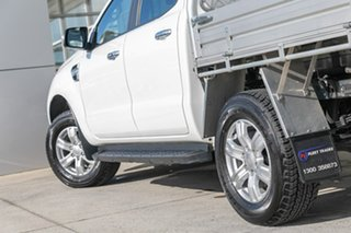 2020 Ford Ranger PX MkIII 2021.25MY XLT Double Cab White 6 Speed Sports Automatic Double Cab Chassis