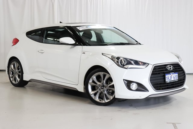 Used Hyundai Veloster FS4 Series II SR Coupe Turbo + Wangara, 2015 Hyundai Veloster FS4 Series II SR Coupe Turbo + White 6 Speed Manual Hatchback