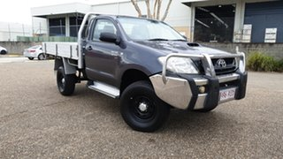 2011 Toyota Hilux KUN26R MY11 Upgrade SR (4x4) Grey 5 Speed Manual Cab Chassis.