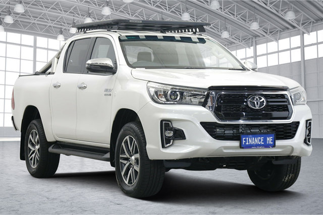 Used Toyota Hilux GUN126R SR5 Double Cab Victoria Park, 2018 Toyota Hilux GUN126R SR5 Double Cab Crystal Pearl 6 Speed Manual Utility