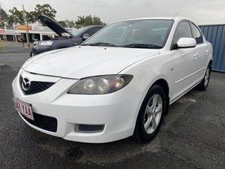 2007 Mazda 3 BK10F2 Maxx White 5 Speed Manual Sedan