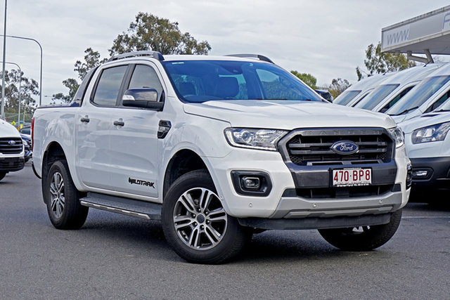 Used Ford Ranger PX MkIII 2019.00MY Wildtrak Ebbw Vale, 2019 Ford Ranger PX MkIII 2019.00MY Wildtrak White 6 Speed Sports Automatic Double Cab Pick Up