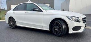 2017 Mercedes-Benz C-Class W205 808MY C200 9G-Tronic White 9 Speed Sports Automatic Sedan