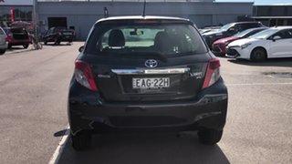 2012 Toyota Yaris NCP131R YRS Black 4 Speed Automatic Hatchback.