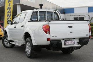 2013 Mitsubishi Triton MN MY14 GLX Double Cab White Solid 5 Speed Manual Utility.