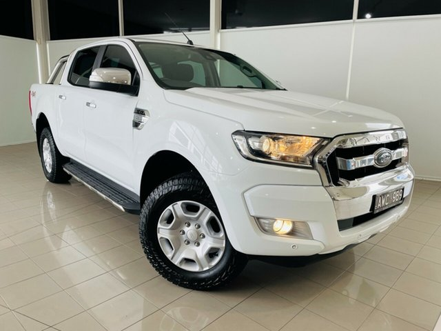 Used Ford Ranger PX MkII 2018.00MY XLT Double Cab Deer Park, 2018 Ford Ranger PX MkII 2018.00MY XLT Double Cab White 6 Speed Sports Automatic Utility