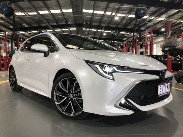 Pre-Owned Toyota Corolla Mzea12R ZR Oakleigh, 2020 Toyota Corolla Mzea12R ZR Frosted White 10 Speed Constant Variable Hatchback