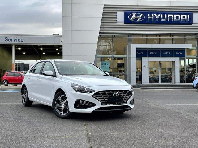 New Hyundai i30 PD.V4 MY21 South Melbourne, 2021 Hyundai i30 PD.V4 MY21 Polar White 6 Speed Manual Hatchback