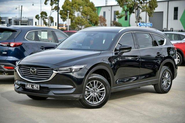 Used Mazda CX-8 KG4W2A Sport SKYACTIV-Drive i-ACTIV AWD Pakenham, 2018 Mazda CX-8 KG4W2A Sport SKYACTIV-Drive i-ACTIV AWD Black 6 Speed Sports Automatic Wagon