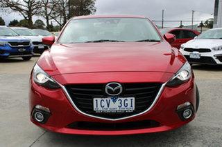 2014 Mazda 3 BM5238 SP25 SKYACTIV-Drive Red 6 Speed Sports Automatic Sedan.