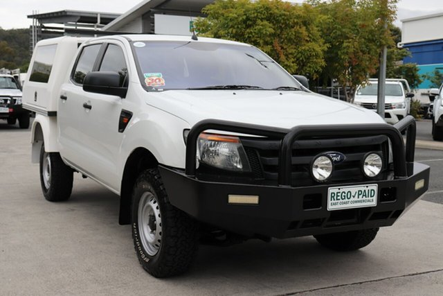 Used Ford Ranger PX XL Robina, 2015 Ford Ranger PX XL White 6 speed Automatic Cab Chassis