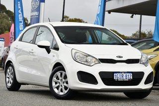 2012 Kia Rio UB MY12 S White 4 Speed Sports Automatic Hatchback.
