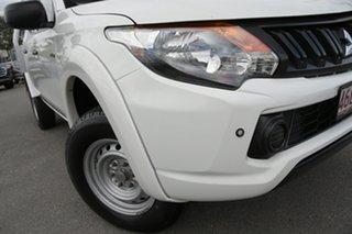 2018 Mitsubishi Triton MQ MY18 GLX Double Cab White Solid 5 Speed Sports Automatic Utility.