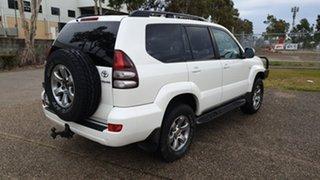 2008 Toyota Landcruiser Prado GRJ120R 07 Upgrade Grande (4x4) White 5 Speed Automatic Wagon.