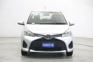 2015 Toyota Yaris NCP130R Ascent Silver 5 Speed Manual Hatchback.