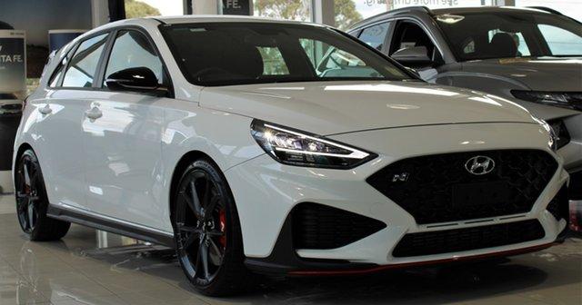 New Hyundai i30 Pde.v4 MY22 N Ferntree Gully, 2021 Hyundai i30 Pde.v4 MY22 N Polar White 6 Speed Manual Hatchback