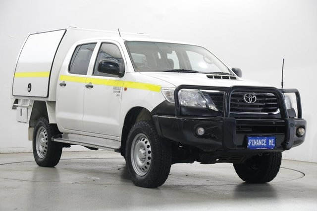 Used Toyota Hilux KUN26R MY14 SR Double Cab Victoria Park, 2014 Toyota Hilux KUN26R MY14 SR Double Cab White 5 Speed Automatic Utility