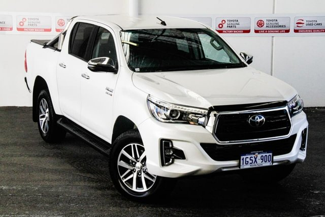 Pre-Owned Toyota Hilux GUN126R SR Double Cab Myaree, 2020 Toyota Hilux GUN126R SR Double Cab Crystal Pearl 6 Speed Sports Automatic Cab Chassis