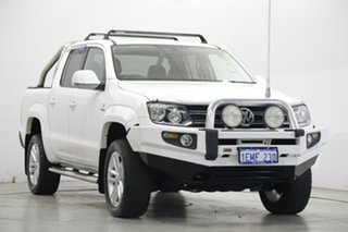2014 Volkswagen Amarok 2H MY14 TDI420 4Motion Perm Ultimate White 8 Speed Automatic Utility