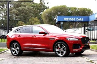 2016 Jaguar F-PACE X761 MY17 S Red 8 Speed Sports Automatic Wagon.
