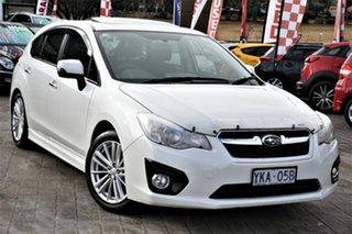 2014 Subaru Impreza G4 MY14 2.0i Lineartronic AWD Luxury White 6 Speed Constant Variable Sedan.
