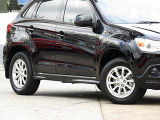 2011 Mitsubishi ASX XA MY11 2WD 8 Ball Black 6 Speed Constant Variable Wagon.