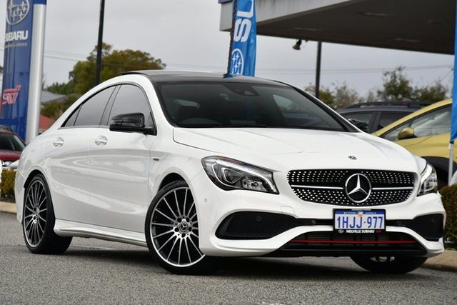 Used Mercedes-Benz CLA-Class C117 808+058MY CLA250 DCT 4MATIC Sport Melville, 2018 Mercedes-Benz CLA-Class C117 808+058MY CLA250 DCT 4MATIC Sport White 7 Speed