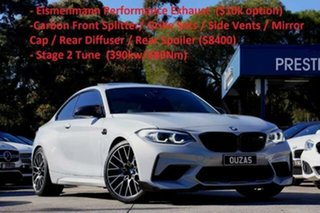 2018 BMW M2 F87 LCI Competition M-DCT Silver 7 Speed Sports Automatic Dual Clutch Coupe.