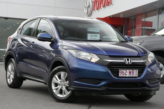 Pre-Owned Honda HR-V MY15 VTi Woolloongabba, 2015 Honda HR-V MY15 VTi Blue 1 Speed Constant Variable Hatchback