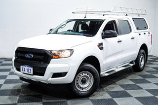 2018 Ford Ranger PX MkII MY18 XL 2.2 Hi-Rider (4x2) White 6 Speed Automatic Cab Chassis.