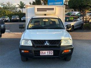 2005 Mitsubishi Triton MK GL White 5 Speed Manual Cab Chassis.