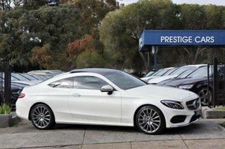 2017 Mercedes-Benz C-Class C205 807+057MY C300 9G-Tronic White 9 Speed Sports Automatic Coupe.