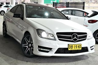 2014 Mercedes-Benz C-Class C204 MY14 C250 7G-Tronic + White 7 Speed Sports Automatic Coupe.