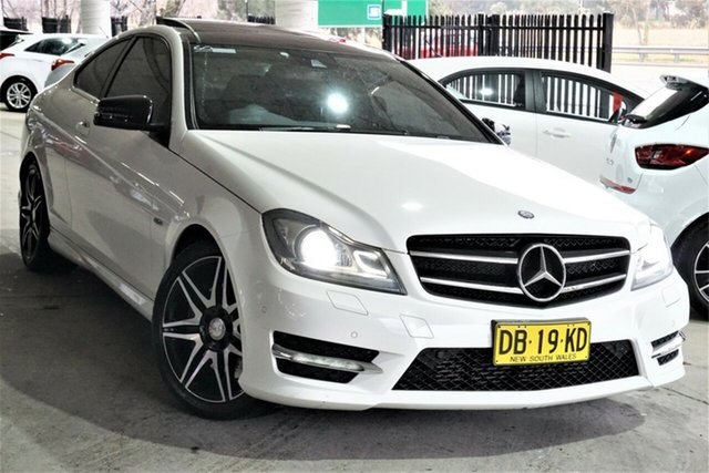 Used Mercedes-Benz C-Class C204 MY14 C250 7G-Tronic + Phillip, 2014 Mercedes-Benz C-Class C204 MY14 C250 7G-Tronic + White 7 Speed Sports Automatic Coupe