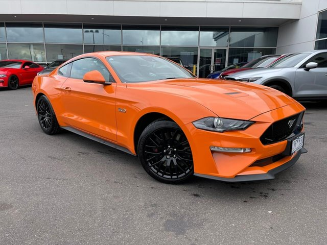 Used Ford Mustang FN 2020MY GT Essendon Fields, 2020 Ford Mustang FN 2020MY GT Orange 6 Speed Manual Fastback