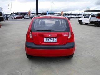 2007 Hyundai Getz TB MY07 SX Red 5 Speed Manual Hatchback
