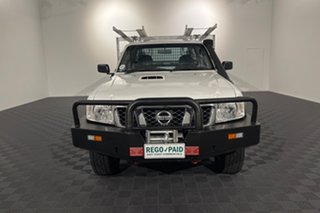 2013 Nissan Patrol Y61 GU 6 SII MY13 DX White 5 speed Manual Cab Chassis.