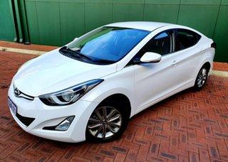 2016 Hyundai Elantra MD Series 2 (MD3) Trophy White 6 Speed Automatic Sedan.