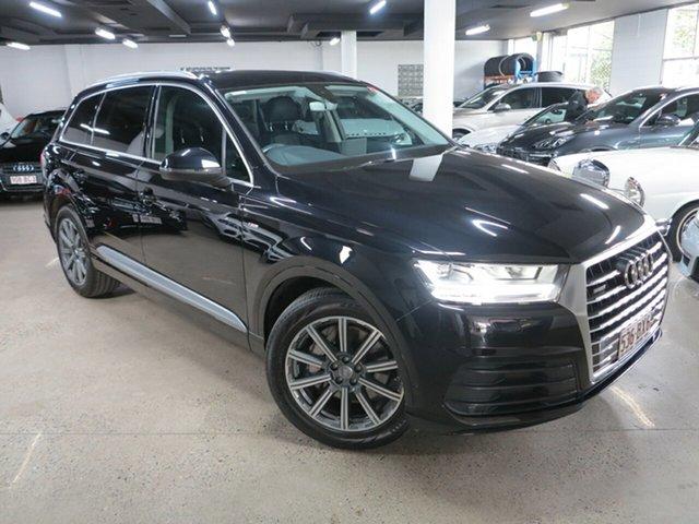 Used Audi Q7 4M MY16 TDI Tiptronic Quattro Albion, 2015 Audi Q7 4M MY16 TDI Tiptronic Quattro Black 8 Speed Sports Automatic Wagon