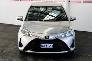 2018 Toyota Yaris NCP130R MY17 Ascent Silver Pearl 5 Speed Manual Hatchback.