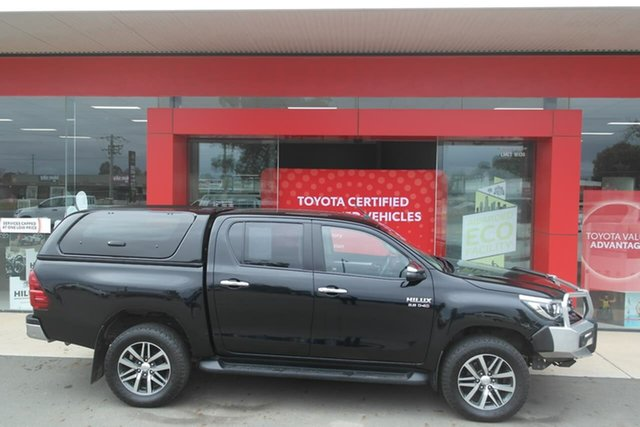 Pre-Owned Toyota Hilux GUN126R SR5 Double Cab Swan Hill, 2018 Toyota Hilux GUN126R SR5 Double Cab Black 6 Speed Sports Automatic Utility