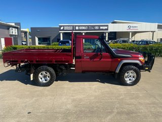 2017 Toyota Landcruiser VDJ79R GX Red/110717 5 Speed Manual Cab Chassis.