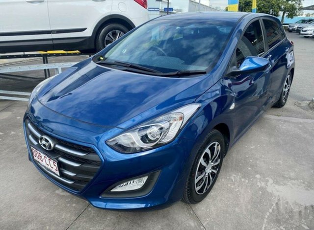 Used Hyundai i30 GD3 Series II MY16 Active Springwood, 2015 Hyundai i30 GD3 Series II MY16 Active Dazzling Blue 6 Speed Sports Automatic Hatchback