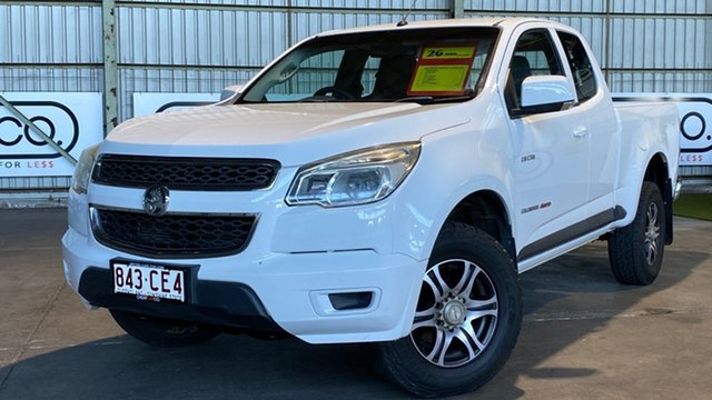 Used Holden Colorado RG MY13 LX Space Cab Rocklea, 2013 Holden Colorado RG MY13 LX Space Cab White 6 Speed Sports Automatic Cab Chassis