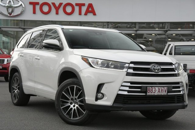Pre-Owned Toyota Kluger GSU55R Grande AWD Upper Mount Gravatt, 2017 Toyota Kluger GSU55R Grande AWD Pearl White 8 Speed Sports Automatic Wagon