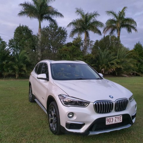 Used BMW X1 F48 sDrive18d Steptronic Alberton, 2015 BMW X1 F48 sDrive18d Steptronic White Pearl 8 Speed Sports Automatic Wagon