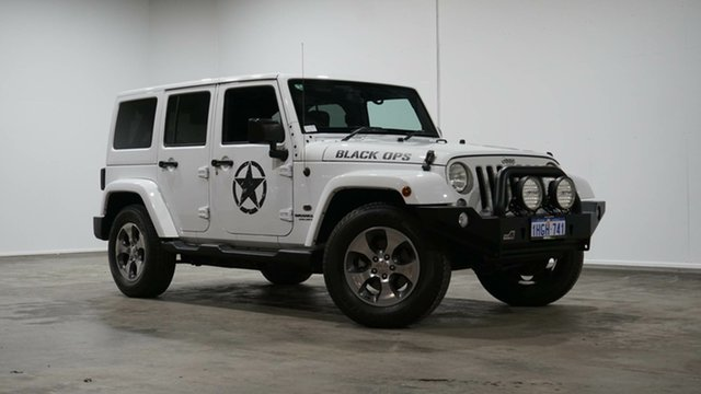 Used Jeep Wrangler JK MY17 Unlimited Overland Welshpool, 2017 Jeep Wrangler JK MY17 Unlimited Overland White 5 Speed Automatic Hardtop